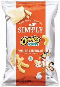 simply white cheddar puffs